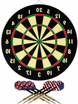 Dart Game Set With 6 Darts And Board Solid Room Home Office