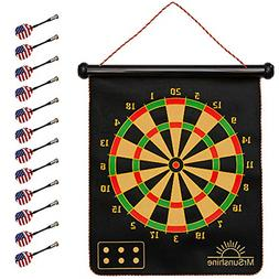 Dart Board For Indoor Outdoor Backyard Games With 12 Magneti