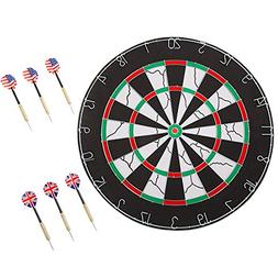 18 inch Double-Sided Flocking Dartboard Set - Includes Six 1