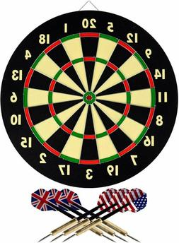 Hey Play 15 DG5218 TG Dart Game Set With 6 Darts And Board D