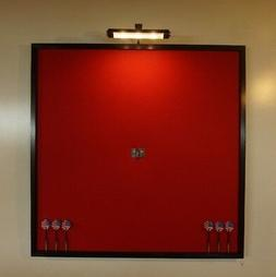 """LED Lighted Red and Black 32"""" x 32"""" Dart Board Cabinet Backb"""