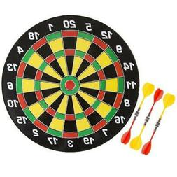 Magnetic Dart Board Set with 16 inch Board, 6 Colorful Darts